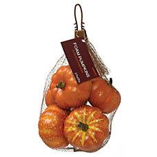 Amscan Mini Foam Pumpkins 6 Pumpkins