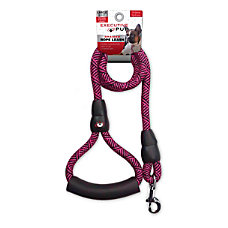Executive Pup Rope Leash 6 PinkBlack