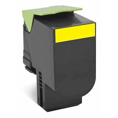 Lexmark™ 80C1HY0 Return Program High-Yield Yellow Toner Cartridge