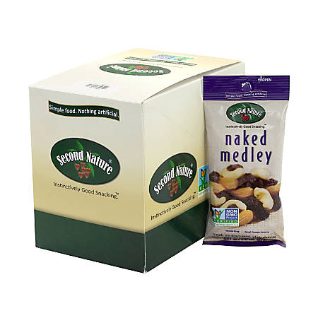 SECOND NATURE Naked Medley Nuts, 2 oz, 12 Count