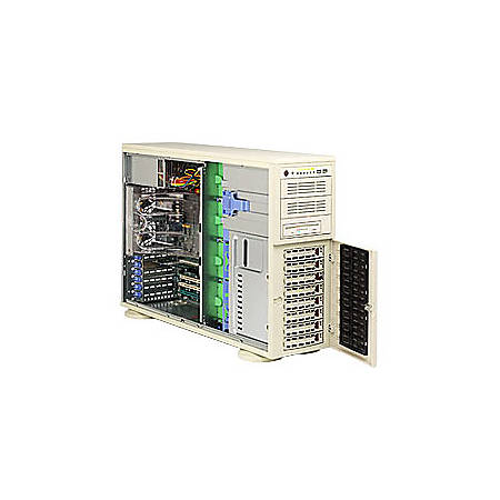 Supermicro A+ Workstation 4020C-TB Barebone System - nVIDIA 2200/2050 - Socket 940 - Opteron (Dual-core) - 1000MHz Bus Speed - 32GB Memory Support - Gigabit Ethernet - 4U Tower