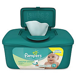 Pampers Natural Clean Wipes Green Unscented