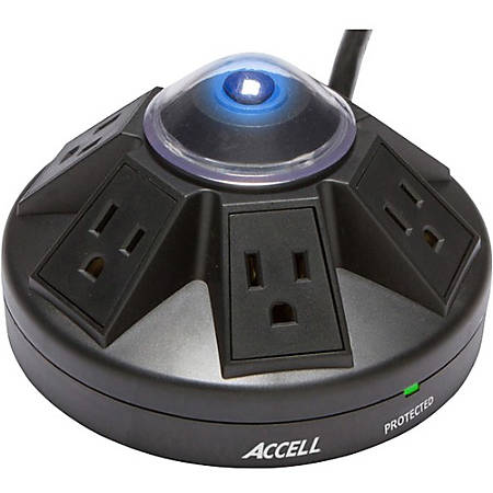 Accell Powramid Power Center and Surge Protector - 6 x AC Power - 1800 VA - 1080 J - 125 V AC Input - 6 x AC Power - 1800 VA - 1080 J - 125 V AC Input