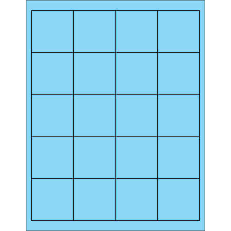 "Office Depot® Brand Labels, LL172BE, Rectangle, 2"" x 2"", Pastel Blue, Case Of 2,000"