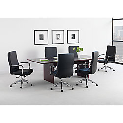 Basyx By HON BL Series Rectangular Conference Table With Slab Base - Series a conference table