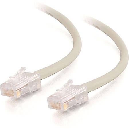 C2G 10ft Cat5e Snagless Unshielded (UTP) Network Patch Cable (USA-Made) - Gray - Category 5e for Network Device - RJ-45 Male - RJ-45 Male - USA-Made - 10ft - Gray