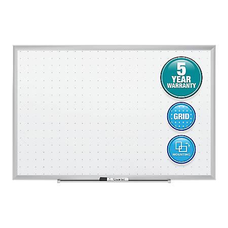 "Quartet® Classic Total Erase® Dry-Erase Board, Melamine, 60"" x 36"", Silver Aluminum Frame"