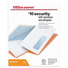Office Depot Brand Security Window Envelopes