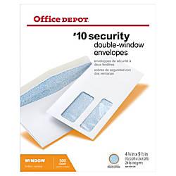 Office Depot Brand Double Window Envelopes