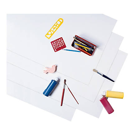 """Pacon® Peacock® Coated Poster Board, 22"""" x 28"""", White, Carton Of 25"""