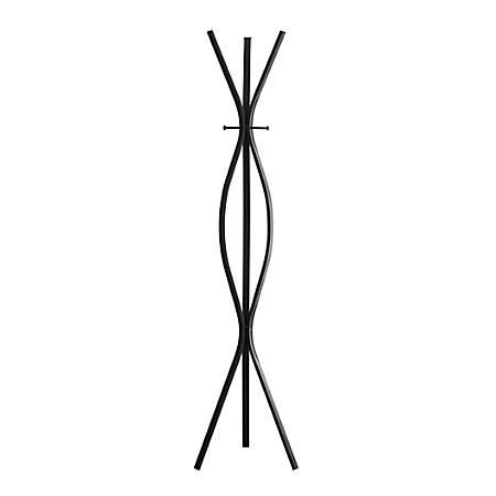 Monarch Specialties 3-Hook Metal Coat Rack, Black