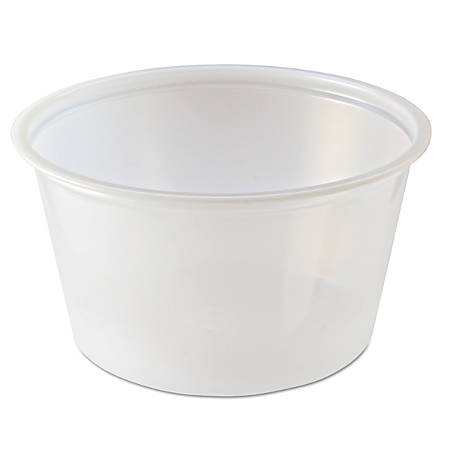 Fabri-Kal® Portion Cups, 4 Oz, Clear, 125 Cups Per Sleeve, Carton Of 20 Sleeves