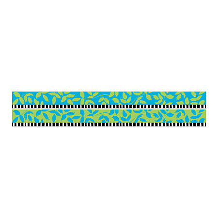 """Barker Creek Double-Sided Straight-Edge Border Strips, 3"""" x 35"""", Nature's Colors, Pack Of 12"""