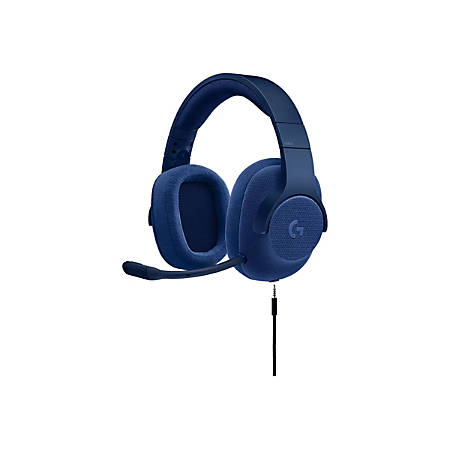 Logitech G433 7.1 Wired Surround Gaming Headset - Stereo - Mini-phone - Wired - 32 Ohm - 20 Hz - 20 kHz - Over-the-head - Binaural - Circumaural - 6.56 ft Cable - Blue