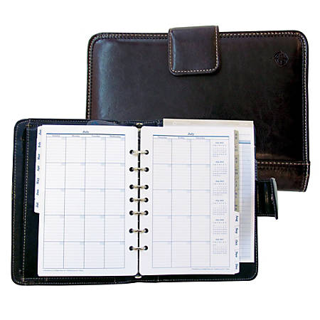 """FranklinCovey® Undated 7-Ring Vinyl Planner, 5"""" x 8"""""""