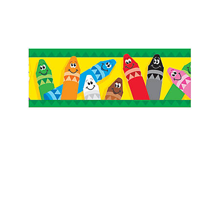 "TREND Bolder Border® Borders, 2 3/4"" x 35 3/4"", Colorful Crayons, Pre-K - College, Pack Of 11"