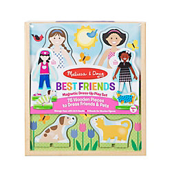 Melissa & Doug Pretend Play Educational Toys, Best Friends Magnetic Dress Up Play Set