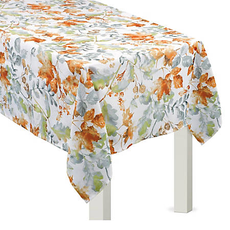 "Amscan Fall Autumno Vinyl Table Cover, 60"" x 84"""