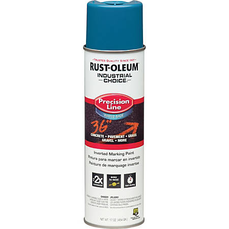 Rust-Oleum M1800 Precision Line Marking Spray Paint, 17 Oz, APWA Caution Blue