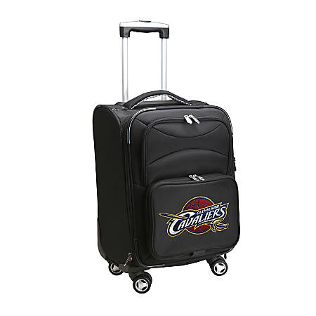 "Denco ABS Upright Rolling Carry-On Luggage, 21""H x 13""W x 9""D, Cleveland Cavaliers, Black"