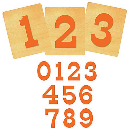"Ellison® Prestige® SureCut™ Number Set, 4"", Circus™"