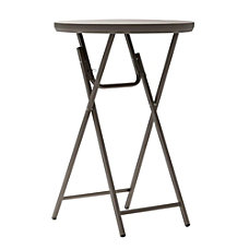 Cosco Cocktail Table Round Brown