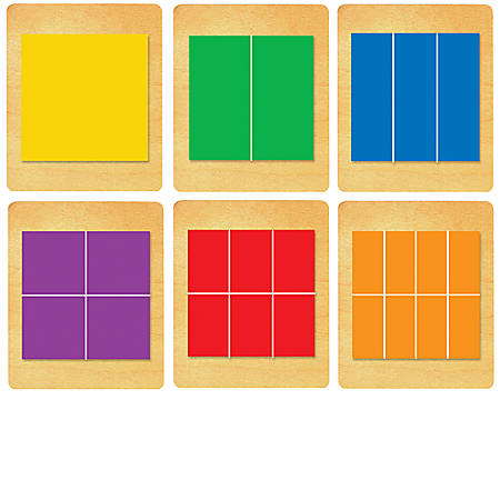 Ellison® Prestige® SureCut™ Set, Math, Large, Fraction Squares (6 Die Set)