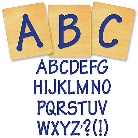 "Ellison® Prestige® SureCut™ Alphabet Set, 4"", Lollipop™ Capital Letters"