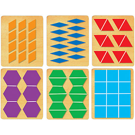 "Ellison® Prestige® SureCut™ Set, Math, Large, Pattern Block Multiples 1"" Sides (6 Die Set)"