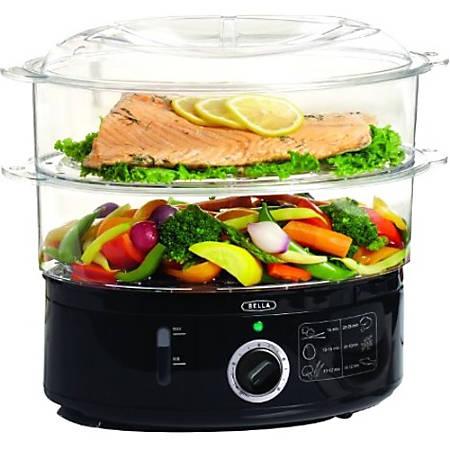 Bella Food Steamer - 1.85 gal - Black