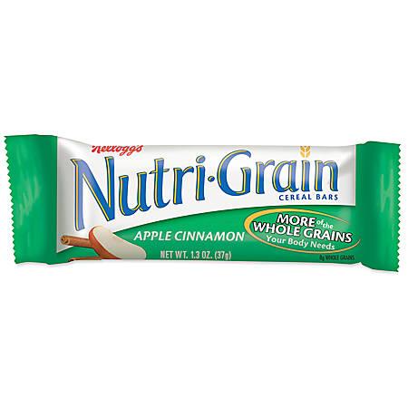 Kellogg's® Nutri-Grain Bars, Apple Cinnamon, 1.3 Oz, Box Of 16