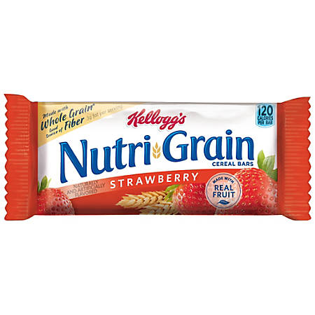 Kellogg's® Nutri-Grain Bars, Strawberry, 1.3 Oz, Box Of 16