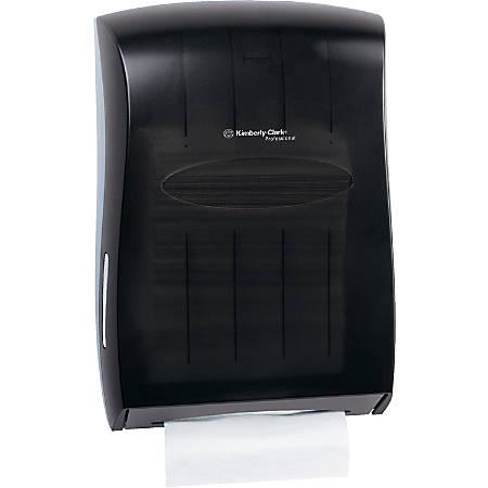 "Kimberly-Clark Professional Universal Folded Towel Dispenser - Multifold, C Fold Dispenser - 18.9"" Height x 13.3"" Width x 5.9"" Depth - Smoke"