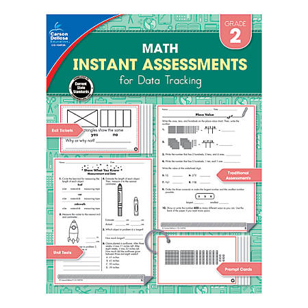 Carson-Dellosa Instant Assessments For Data Tracking Math Resource Book, Grade 2