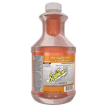 Sqwincher ZERO Liquid Concentrate, Tropical Cooler, 64 Oz, Case Of 6