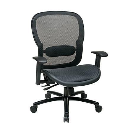 Office Star® Big & Tall Breathable Mesh Executive Chair, Black