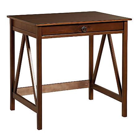 Linon Titian Laptop Desk, Antique Tobacco