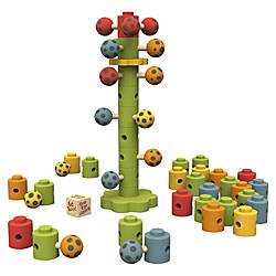 BeginAgain Toys Ladybug Flower Tower Game