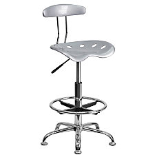 Flash Furniture Vibrant Drafting Stool SilverChrome