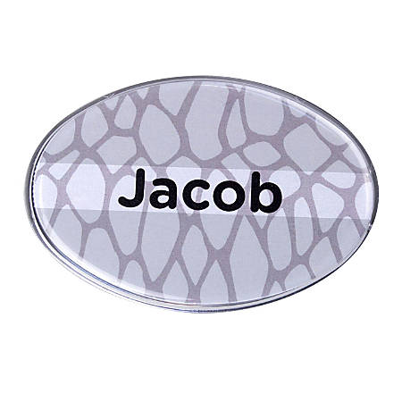 "The Mighty Badge™ Animal Print Name Badge Kit, 2 5/8"" x 1 3/4"", Snake Print"