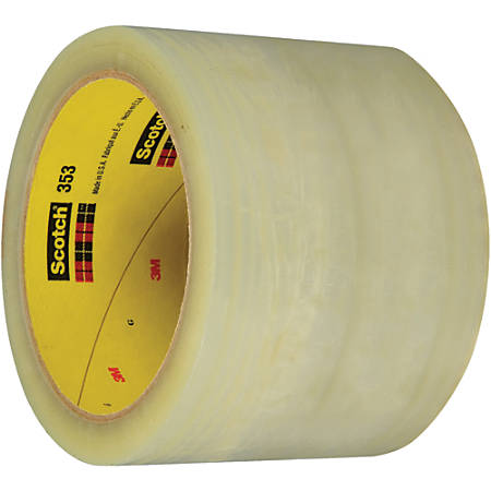"""3M™ 353 Carton Sealing Tape, 3"""" Core, 3"""" x 55 Yd., Clear, Case Of 6"""