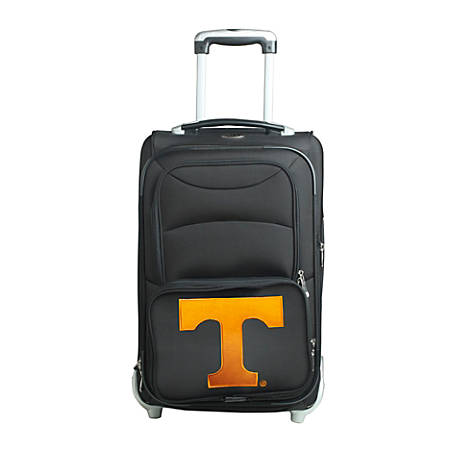 """Denco Sports Luggage NCAA Expandable Rolling Carry-On, 20 1/2"""" x 12 1/2"""" x 8"""", Tennessee Volunteers, Black"""