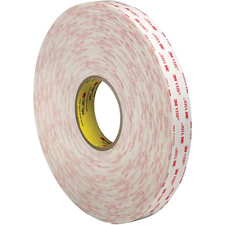 """3M™ VHB™ 4952 Tape, 1.5"""" Core, 1"""" x 5 Yd., White"""