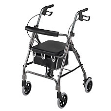 DMI Adjustable Aluminum Rollator With Seat