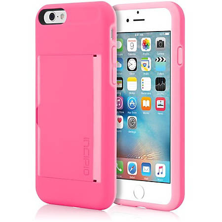 finest selection 0f0e7 ced29 Incipio STOWAWAY Credit Card Case with Integrated Stand for iPhone 6/6s -  For iPhone 6, iPhone 6S - Pink, Light Pink - Impact Resistant, Shock ...