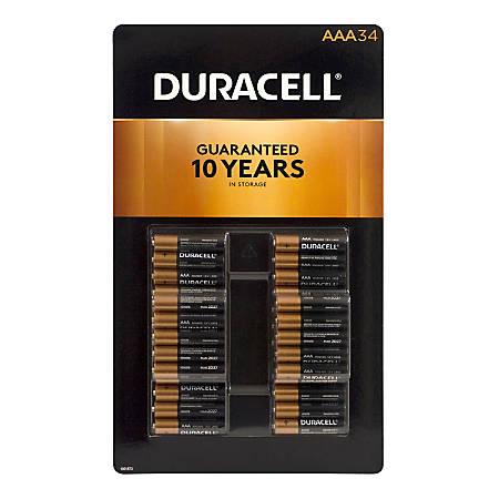 Duracell® AAA Alkaline Batteries, Pack Of 34, 220-00693
