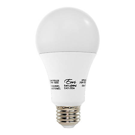 Euri A21 LED Light Bulb, 1600 Lumen, 16 Watt, 2,700K/Warm White, 1 Each