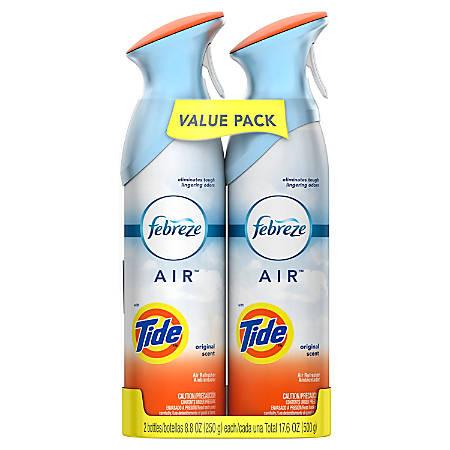 Febreze® AIR Fresheners, Tide Original Scent, 17.6 Oz, 2 Spray Bottles Per Pack, Case Of 6 Packs