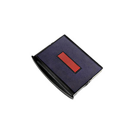 """2000 PLUS® 2-Color Self-inking Dater Replacement Pad, Red/Blue, 2"""" x 2 3/4"""" Impression"""