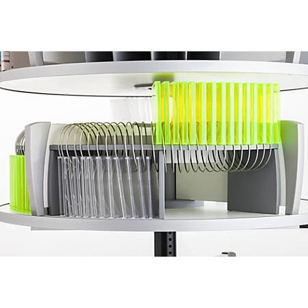 Moll CD/DVD Organizer For Deluxe Binder And File Carousel Shelving, Silver